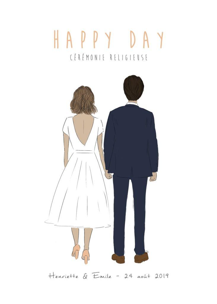 Faire part mariage personnalisé - Livret de cérémonie