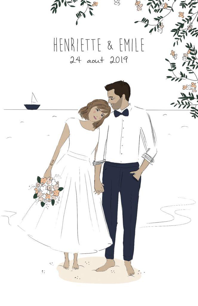 Faire part mariage personnalisé - Faire-part