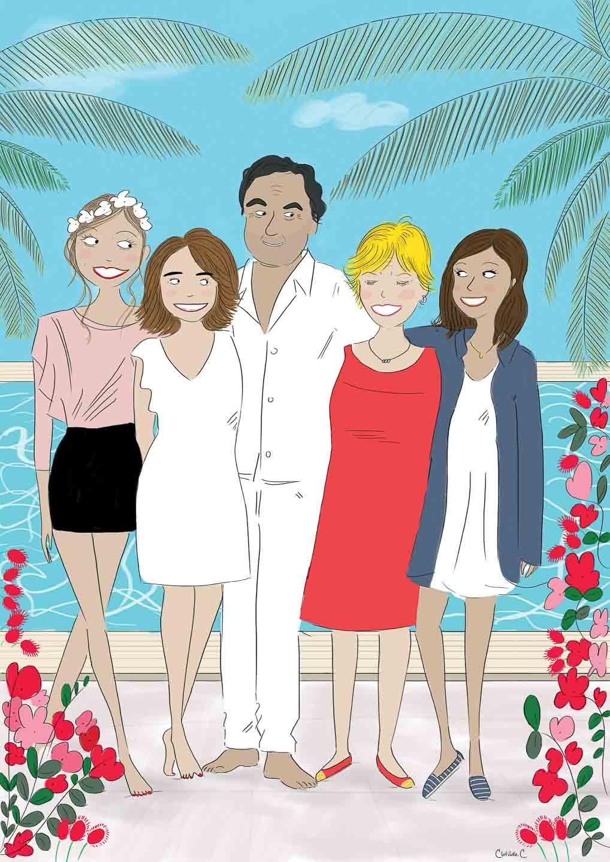 Portrait de famille dessin