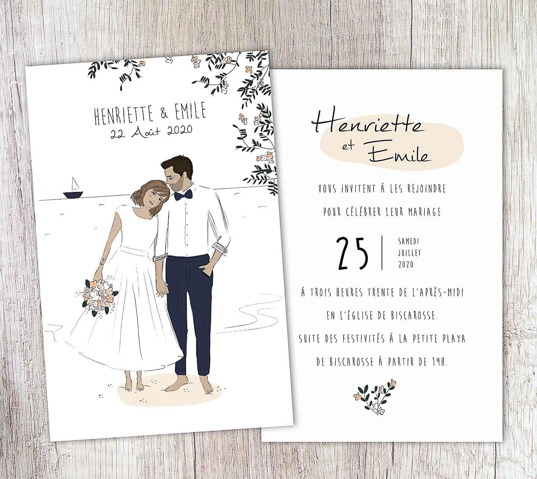 Modèle d'invitation de mariage formelle
