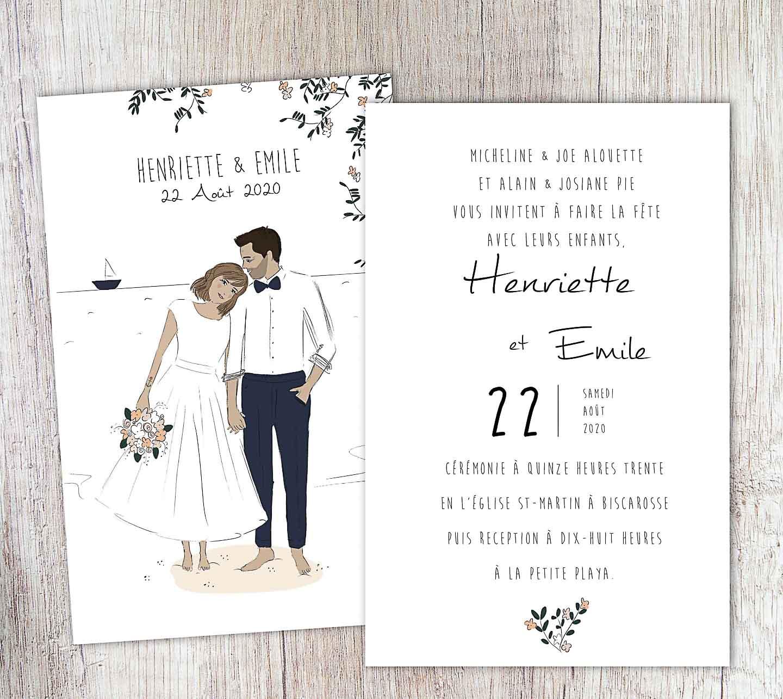Modèle de faire part mariage traditionnel