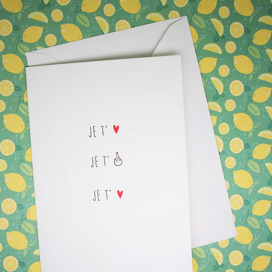 L'amour vache avec enveloppe