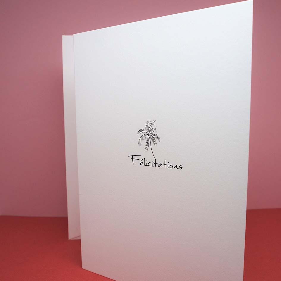 carte palmier félicitation