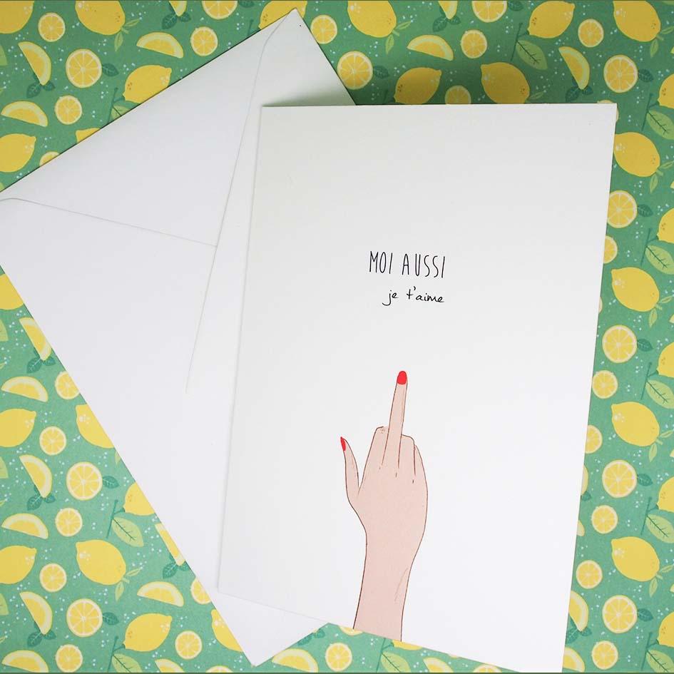 Carte moi aussi je t'aime enveloppe