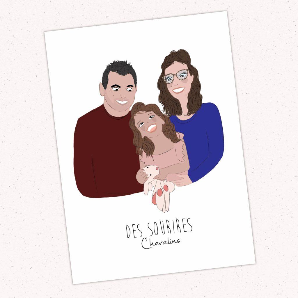 Portrait de famille en ligne