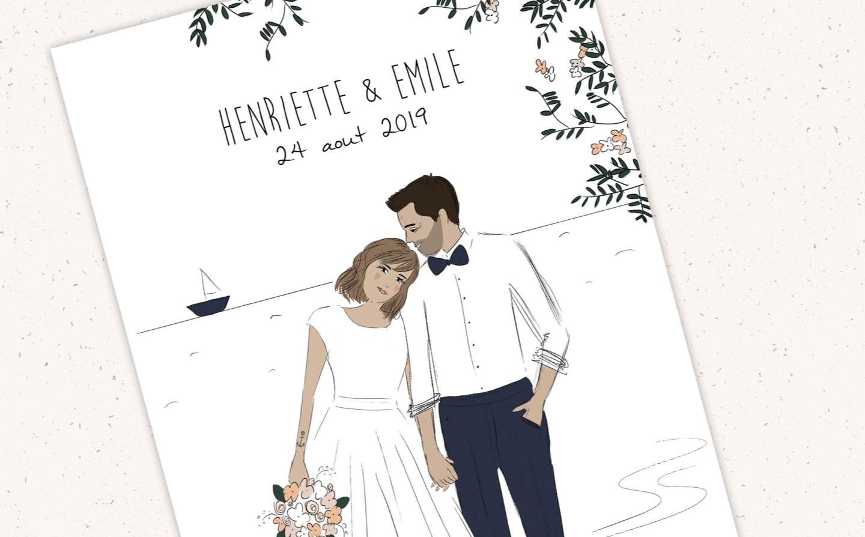 Carte Henriette & Emile