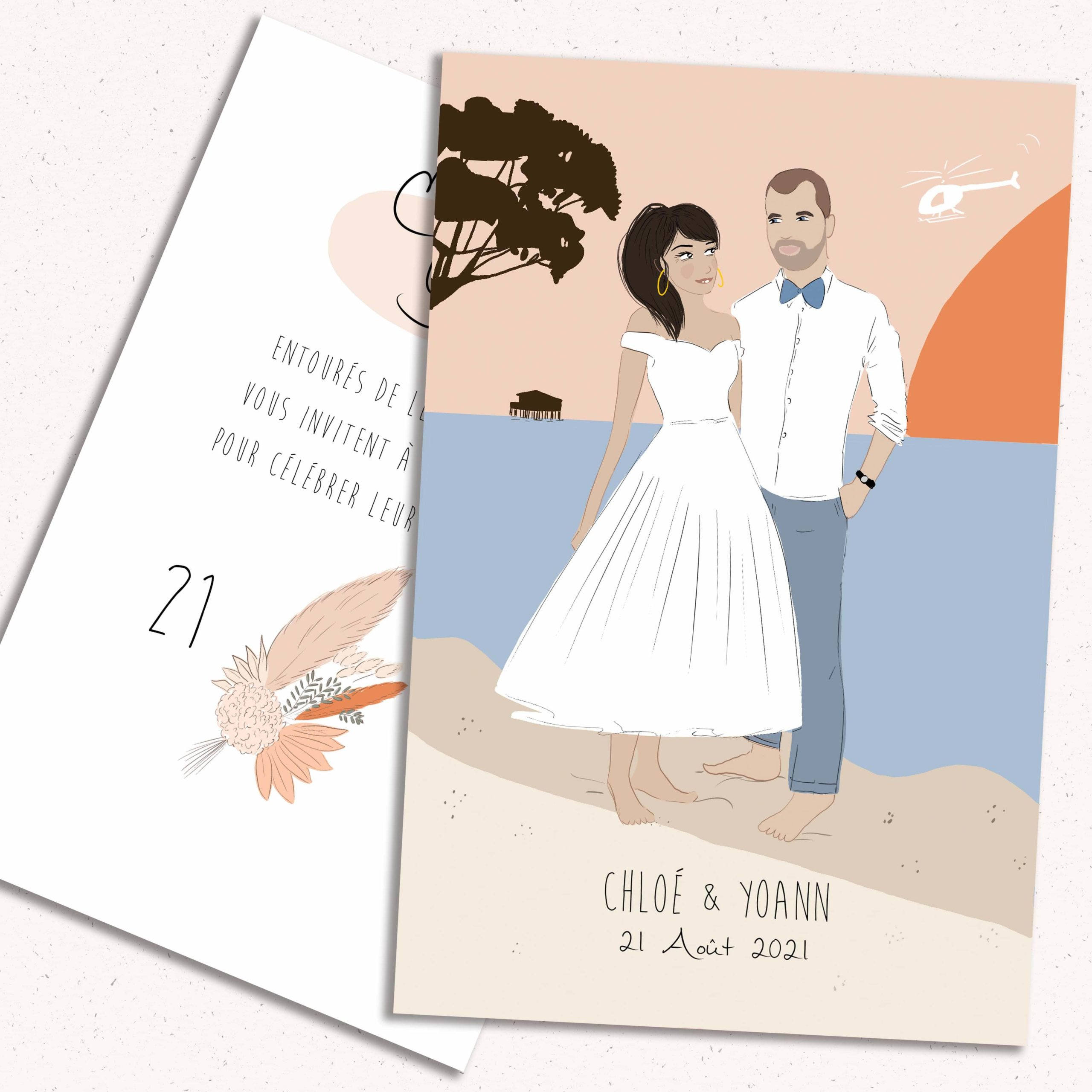 Faire part de mariage - Chloe & Yoann